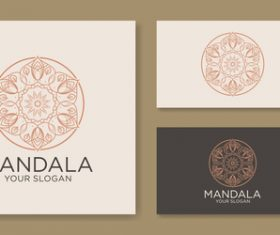 Mandala cover company business card vector