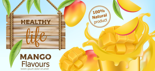 Mango flavours drink vector