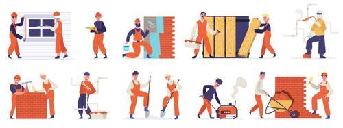 Manual worker cartoon illustration vector