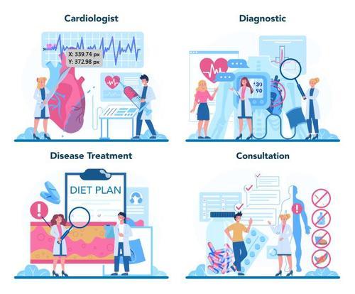 Medical cartoon illustration vector