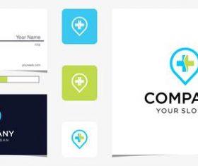 Medical company logo design vector