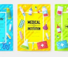 Medical medicine banner vector