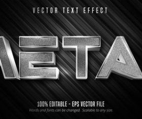 Metal editable font effect vector