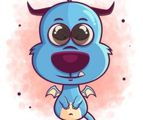 Monster cartoon icon vector
