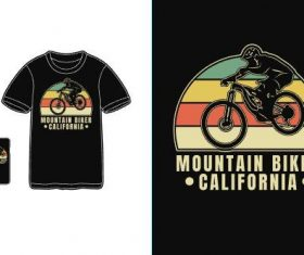Mountain blker california T-shirt merchandise print vector