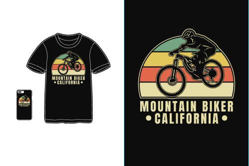Mountain blker california T shirt merchandise print vector
