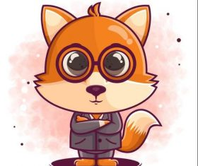 Mr Fox icon vector