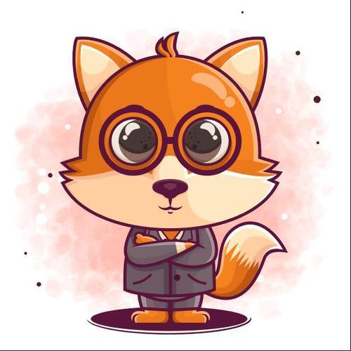 Mr Fox icon vector