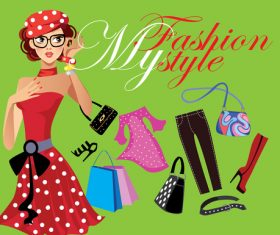 My fashion style vector