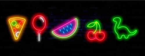Neon art icon vector