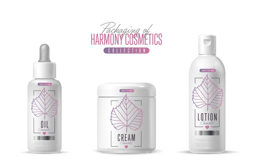 No stimulation cosmetics and packing vector