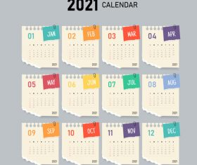 Notepad pattern calendar vector
