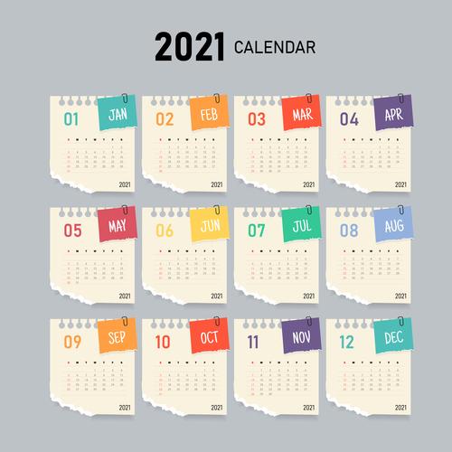 Notepad pattern calendar vector