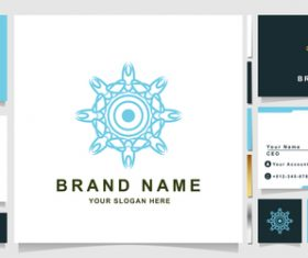 Octagonal mandala cover company logo design vector