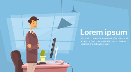 Office character cartoon vector