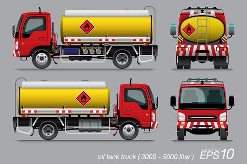 Oil tank truck vector