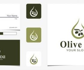 Olive oil logo design vector