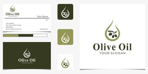 Olive oil logo design vector