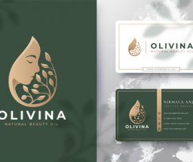 Olivina cover logo design vector