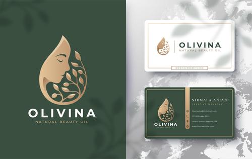 Olivina cover logo design vector