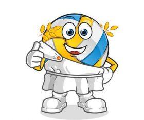 Olympic volleyball mascot cartoon vector