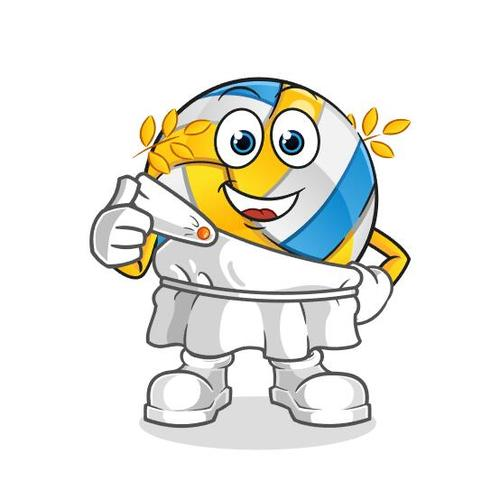 Olympic volleyball mascot cartoon vector