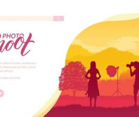 Outdoor photography silhouette illustration vector