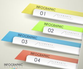 Paper knife infographic business element options vector