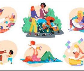 Parenting illustration vector