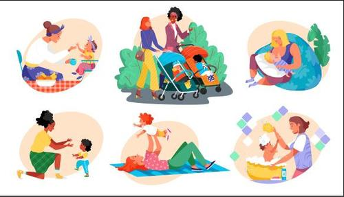 Parenting illustration vector
