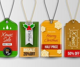 Pendant Christmas label vector