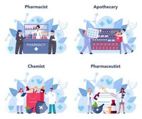Pharmacy cartoon illustration vector