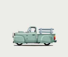Pickup truck cartoon illustration vector