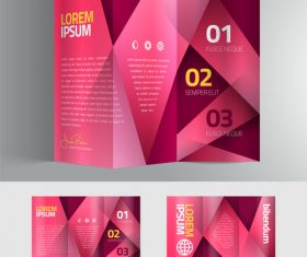 Pink stripe brochure vector