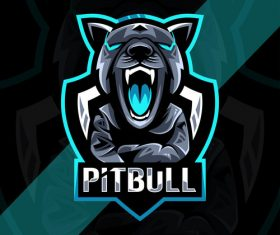 Pitbull esport logo vector