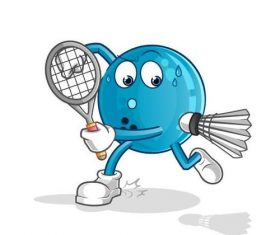 Playing badminton cartoon vector
