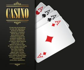 Poker casino templates vector