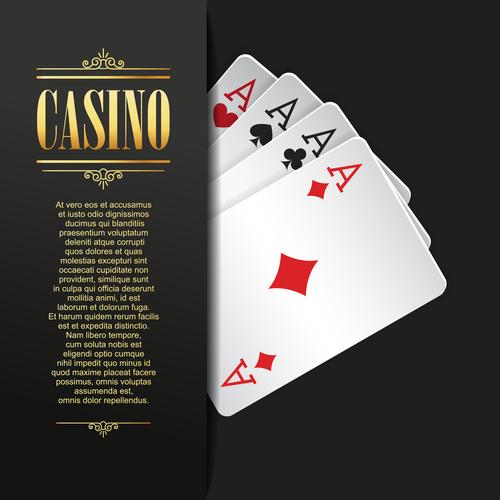 Poker casino templates vector