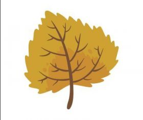 Poplar leaf vector
