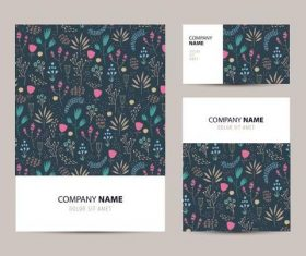 Printing pattern company business card vector