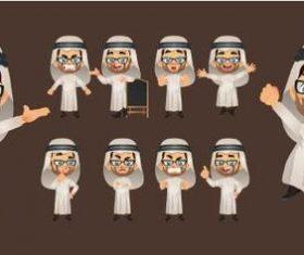 Professor comic character expression vector