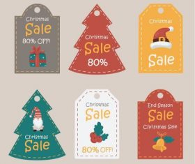 Promotional label christmas vector