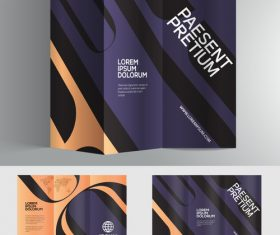 Purple 3d typography brochure vector