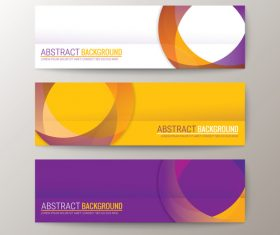 Purple and yellow abstract background banner vector