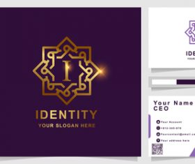 Purple pattern cover company logo design vector