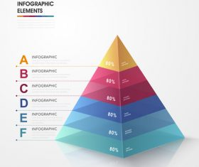 Pyramid information background vector