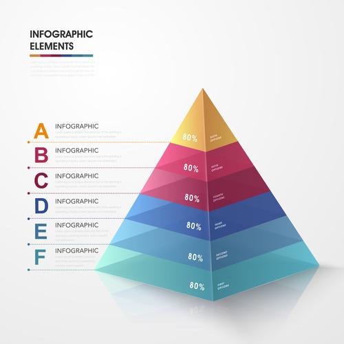 Pyramid information background vector