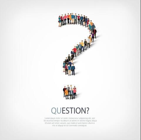 Question mix icon vector