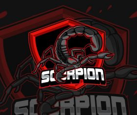 Red scorpion esports logo vector
