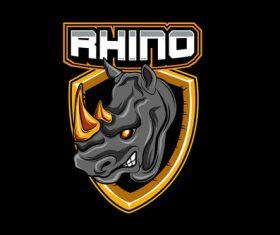 Rhino esports logo vector